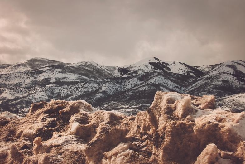 Snow Piles, Park City, Utah